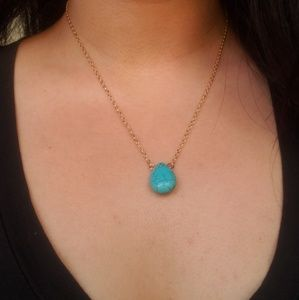 Turquoise Gold Chain Necklace